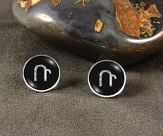 Armenian Initial Earrings Initial Earrings Sterling Silver