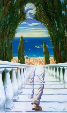 Vladimir Kush - Descent to the Mediterranean