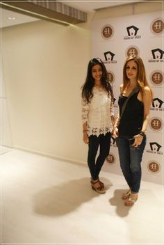 75896d5fb2c95 House Of Tales Director Neha Sheth with The Home Label s Sussanne Roshan at  their first Pop Up Shop!