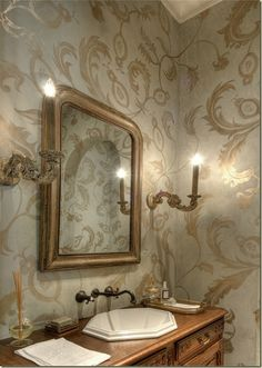 Bathroom-Classic, traditional design with a European country twist