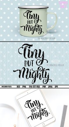 efeb048fb Baby SVG Tiny but Mighty svg Baby Onesie svg Files Sayings svg Files for  Silhouette Newborn