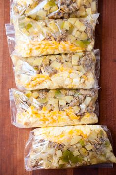 Make Ahead Freezer Breakfast Burritos, make the filling ahead of time then freeze it without the tortilla.
