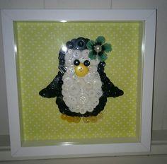 Button penguin picture