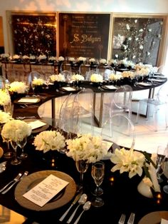 Serpentine table layout. Corporate Events | Holiday Parties |
