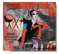 """""""Never Apologize For Your Art"""" by craftygeminicreation ❤ liked on Polyvore featuring art, music, expression and Diva"""