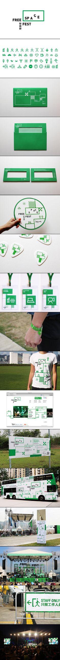FREESPACE FEST by Ken Lo by blow.hk #identity #packaging #branding PD