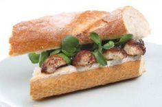 Pork & Herb Banger Sandwich #british #irish