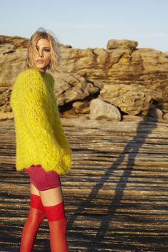 Oyster Fashion: Rachel Rutt's Knitwear Shot by Jack Salkild & Styled by Elle Packham   Fashion Magazine   News. Fashion. Beauty. Music.   oystermag.com