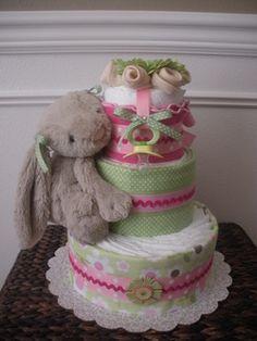 ❤ Rose BABY GIRL Cellophane Panier Papier Cadeau bébé Gâteau de douche FREE Nœud//Ruban