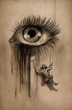 & # When tears are in your eyes, I dry them all & # - Zeichnungen traurig - Kunst Cool Eye Drawings, Realistic Eye Drawing, Sad Drawings, Dark Art Drawings, Pencil Art Drawings, Drawing Sketches, Drawing Eyes, Drawings Of Sadness, Crying Eye Drawing