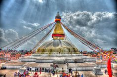 Boudhanath is one of the holiest Buddhist sites in Kathmandu, Nepal. Located about 11 km (6.8 mi) from the center and northeastern outskirts of Kathmandu, the stupa's massive mandala makes it one of the largest spherical stupas in Nepal.