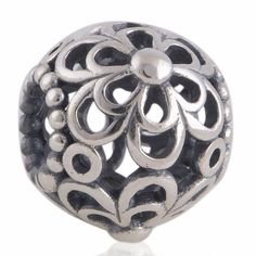LW161 Antique Solid Sterling 925 Silver Genuine Charm Beads [Picking Daisies] Fit European Bracelets,Plant Bead,Hobby,Flower,Hollow by TaoTaoHas on Etsy