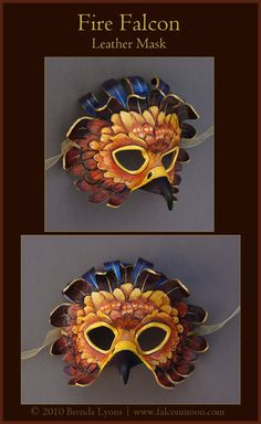 A commission for $damphyr, who wanted a barn owl mask, but closer to eyemask-size instead. I ended creating a bit of a stylized design and I have to say, I really like it! Hand-carved and shaped 7-...