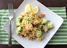 Lemon and Chicken Orzo