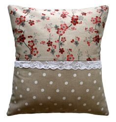 Handmade pillow cover - Country chic