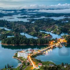Dam Of Guatape in Antioquia, Colombia Vacation Destinations, Vacation Trips, Places Around The World, Around The Worlds, Paradise Places, Colombia South America, Latin America, Colombia Travel, Adventure Is Out There