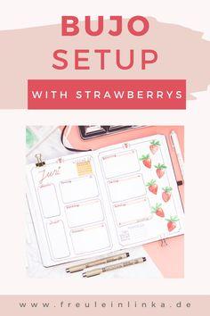 Du suchst noch ein Thema für dein Bullet Journal. Wie wäre es mit Erdbeeren. Ich zeige Dir mein Juni Setup mit den süßen Früchten auf meinem Blog freuleinlink.de Zebra Mildliner, Juni, Blog, Map, Knit Gifts, Bullet Journal Ideas, Strawberries, Make Your Own, Tips