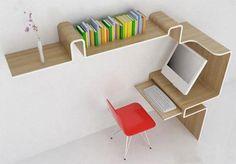 space-saving-office-desk http://weburbanist.com/2009/08/21/12-offbeat-office-interiors-innovative-desk-designs/
