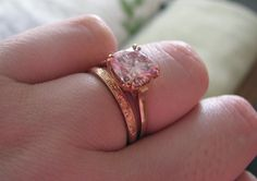 Pink engagement ring  AHHH I LOVE THIS!!!!!!