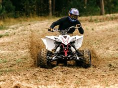Everybody used to make a pure sport ATV. Now it's just Yamaha, competing against its own legends. Outdoor Toys, Outdoor Fun, E Quad, Motocross Love, Sport Atv, Triumph Motorcycles, Custom Motorcycles, Atv Riding, Power Bike