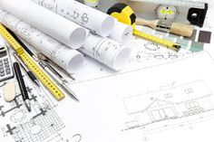 Architectural background with technical drawings and work tools , Architecture Tools, Architecture Drawing Art, Work Tools, Vector Design, Easy Drawings, Robot, Presentation, Concept, Technical Drawings