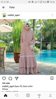 Pingin seperti ini gamisnya Hijab Dress Party, Hijab Style Dress, Dress Outfits, Modest Dresses, Simple Dresses, Abaya Fashion, Fashion Dresses, Moslem Fashion, Abaya Designs