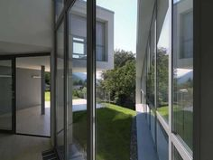 Contemporary House Design by Davide Macullo in Carabbia, Switzerland