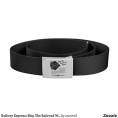 """Railway Express; Ship The Railroad Way Belt ;  $35.95 - #stanrail -Belts are arguably the most important accessories in your wardrobe. Not only do they serve the practical purpose of holding your pants up, they also pull your whole look together. Keep your pants up with this retro-styled sash and make a statement wherever you go.  Canvas belt strap, one size fits most: 47.5"""" (length) x 2.25"""" (height).  @stanrails_store"""