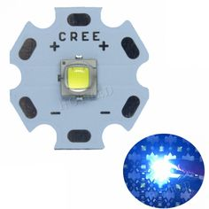 Luminus LED Cool White instead of CREE XML LED Light Emitter Diode for flashlight with pcb .