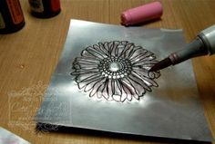 Dry and Heat Embossing on Metal Tutorial