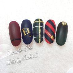 Fall & winter nail art collection, Hand draw art, Matte, stickers