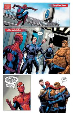 """""""I'm going to call in some friends"""" (Friendly Neighbourhood Spider-Man & DC Comics Spiderman, Avengers Comics, Marvel Jokes, Marvel Funny, Funny Comics, Marvel Dc, Marvel Films, Marvel Heroes, Marvel Characters"""