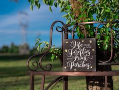 "* ""Life Needs More Front Porches and Fireflies!"" * Hand painted Black w/ white wording & gray/yellow fireflies! * x * Comes with a protective sealant and hanging hardware! * Great summer sign for your front door Cottage Porch, Lakeside Cottage, Cottage In The Woods, Cottage Plan, Cottage Exterior, Cozy Cottage, Shabby Cottage, Cottage Style, Modern Shabby Chic"