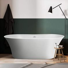 """FerdY 67""""Freestanding Bathtub Matte Acrylic Luxury Freestanding Soaking tub, Honed White w/Natural Appeal of Smoothly Honed Stone, Easy to Clean and Maintain, Drain & Overflow Assembly Included - - Amazon.com Best Bathtubs, Freestanding Bathtub, Steel House, Cleaning, Stone, Amazon, Luxury, Natural, Easy"""
