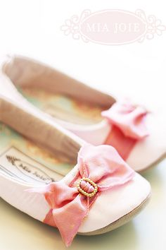 Shabby chic pink ballet slippers