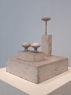 Cy Twombly sculptures at AIC by John Kannenberg, via Flickr