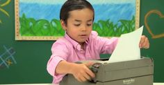 The Fine Bros. latest 'Kids React' video teaches children about typewriters.