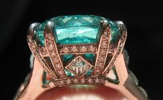 Paraiba Tourmaline Diamond Ring