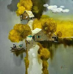 Landscape Painter Dang Van Can (born 957), Vietnam