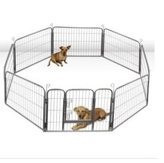 Dog Playpen Large Metal Cage Puppy Pet  Safety Pen Exercise Outdoor Heavy Duty #OxGord