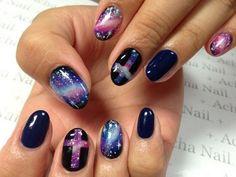 Galaxy Nails and Crosses