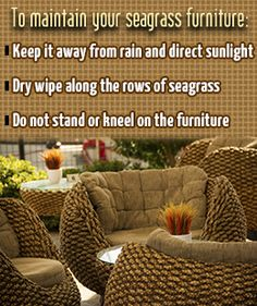 Maintenance And Care Tips For Seagrass Furniture
