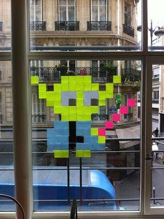 Fare o non fare, non c'è provare :) Star Wars anche in ufficio con questo piccolo Yoda fatto di Post-it!