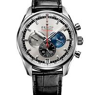 03.2041.4052/69.C496, El Primero Striking 10th Chronograph/LE 1969 pcs, 42mm stainless steel case with black crocodile leather strap.