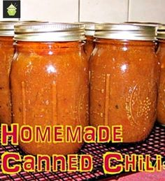 Homemade Canned Chili - Lovefoodies