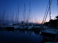 Harbor in Italy on a summer sunset