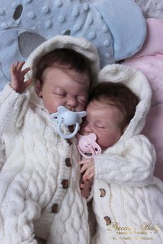 ~ REBORN BABIES SWEET PREEMIE TWINS BEAN & SPROUT BY LAURA LEE EAGLES ~ | eBay