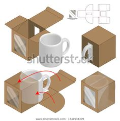 Find Box Packaging Die Cut Template Design stock images in HD and millions of other royalty-free stock photos, illustrations and vectors in the Shutterstock collection. Thousands of new, high-quality pictures added every day. Diy Gift Box, Diy Box, Box Packaging Templates, Packaging Design Box, Box Mockup, Paper Box Template, Diy And Crafts, Paper Crafts, 3d Modelle