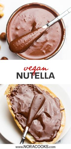 Recipes Snacks 3 Ingredients Silky smooth homemade Vegan Nutella is made with just 3 ingredients and way better than anything you can buy in the store! Slather on toast, spread into crepes, or enjoy a spoonful as a healthy snack. Healthy Snacks To Buy, Easy Snacks, Vegan Snacks On The Go, Healthy Eating, Toast Pizza, Keto, Paleo, Patisserie Vegan, Vegan Recipes