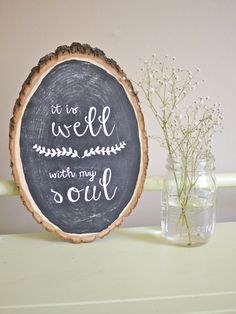 FOR CURRENT PRODUCTION TIME, PLEASE CHECK MY SHOP ANNOUNCEMENT HERE:   https://www.etsy.com/shop/HandyGerl This rustic wood piece features a chalkboard